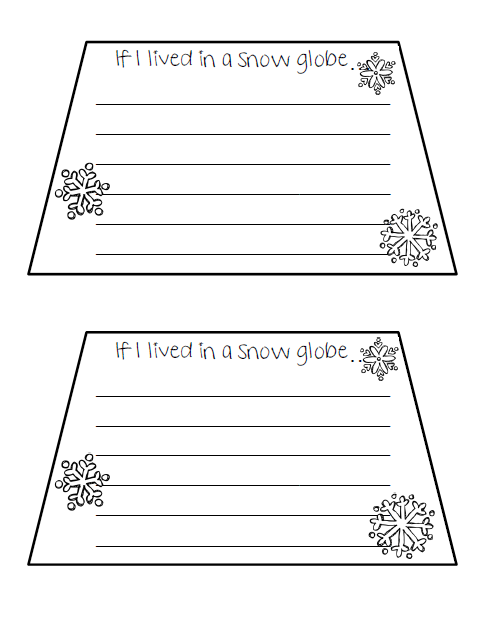 create their own snow globe illustrations and then put the writing ...