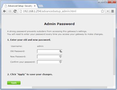 cambiar clave administrador de modem