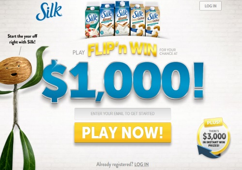 Silk Play Flip N Win $1000 Contest