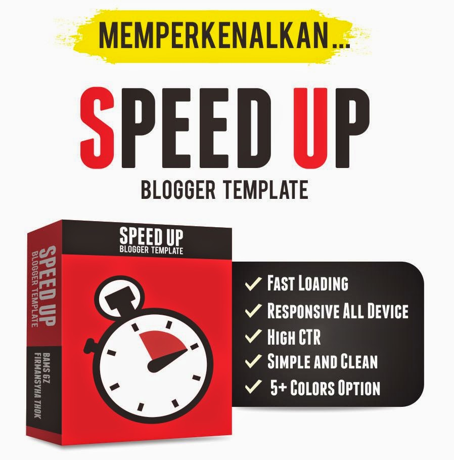 SpeedUp Blogger Template