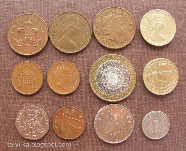 Британские монеты monets