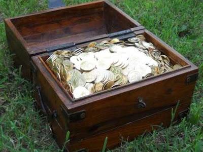 cofre monedas de oro dragones de oro - Juego de Tronos en los siete reinos