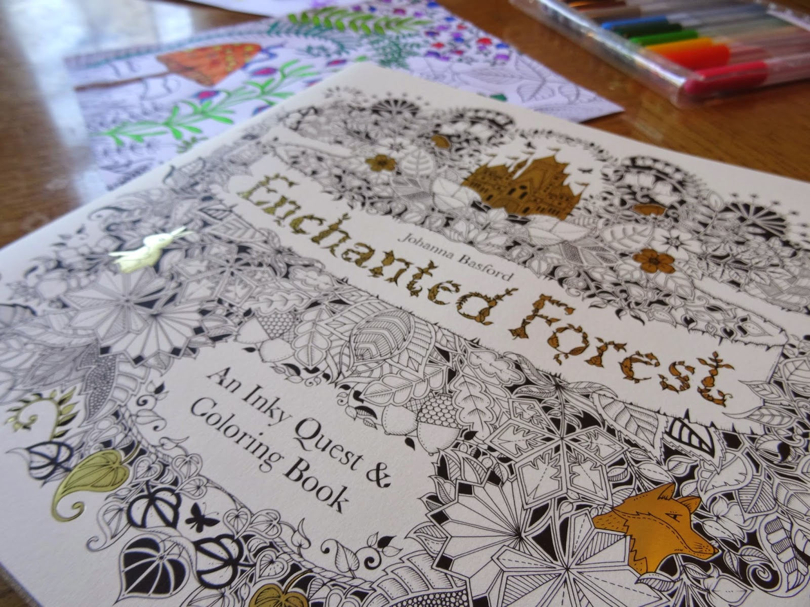 Enchanted Forest An Inky Quest and Colouring Book  - enchanted forest coloring pages