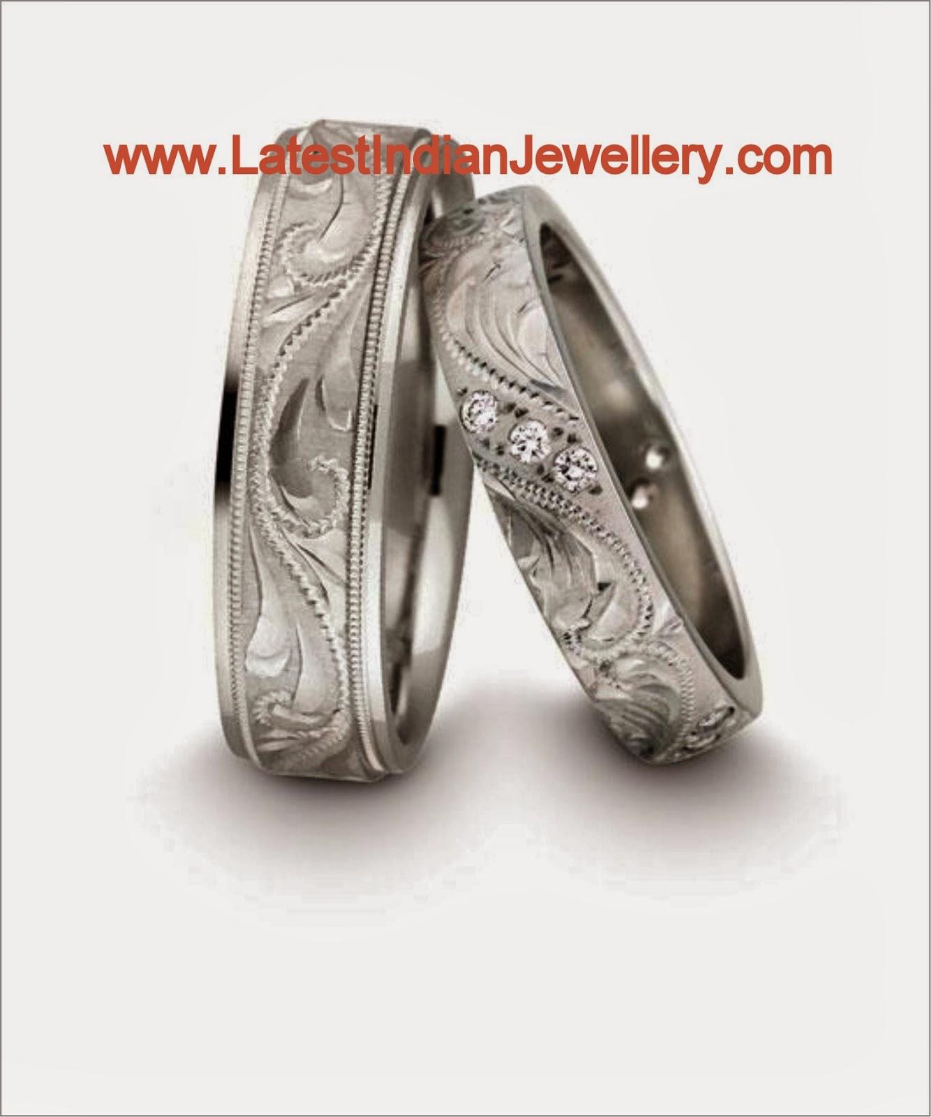 platinum rings pair