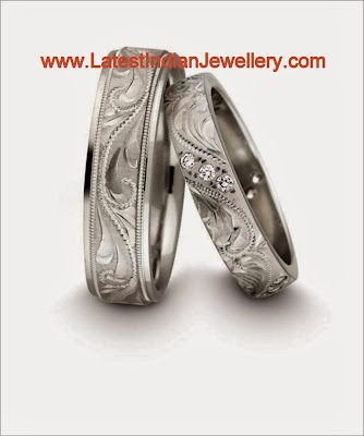 Platinum Diamond Rings Pair
