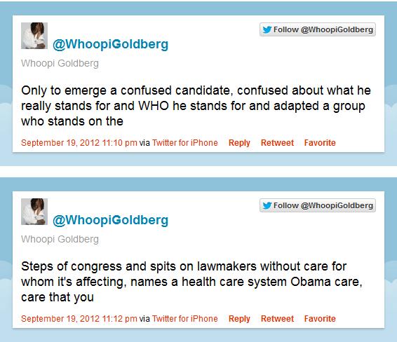 Whoopi goes off on Romney @osaseye.blogspot