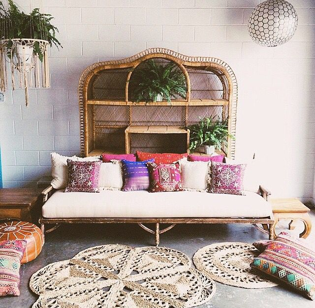 Moon to moon recline on rattan beds for Bohemian style daybed