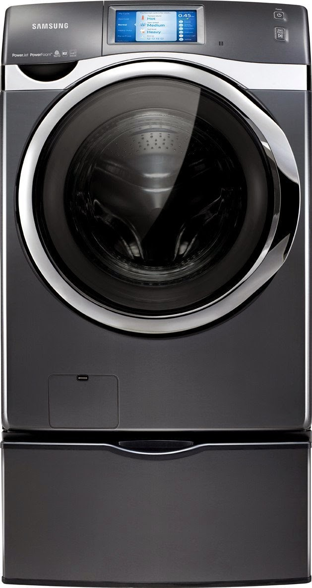 samsung 45 cf front load washer with smart control and touch screen lcd