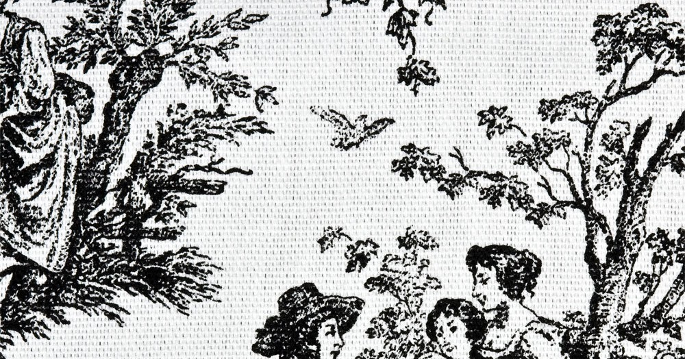 Vintage denisebrain fabric of the week toile de jouy - Papel pintado toile de jouy ...