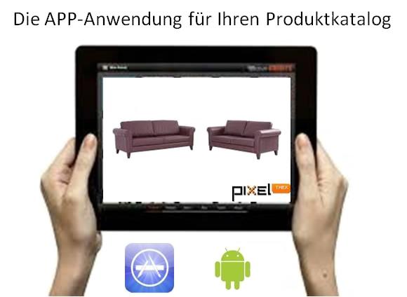 PixelThek - APP für die Möbelindustrie. Live-Demo auf der imm cologne 2016