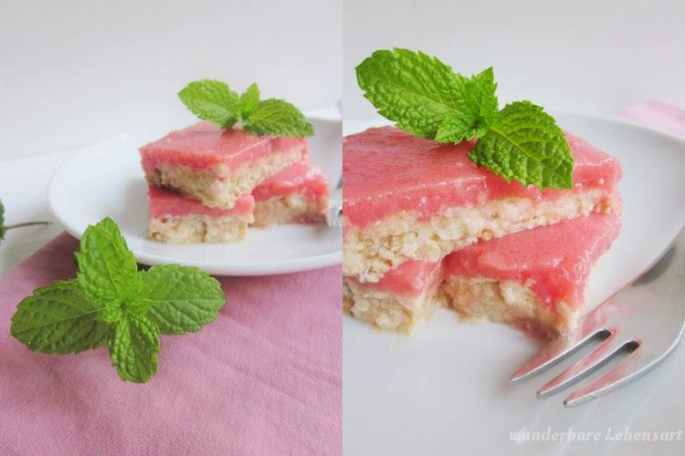 Wassermelonenriegel mit Keksboden