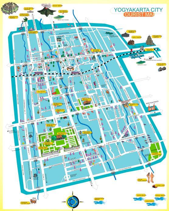 CULTURAL DESTINATION: YOGYAKARTA CITY TOURIST MAP