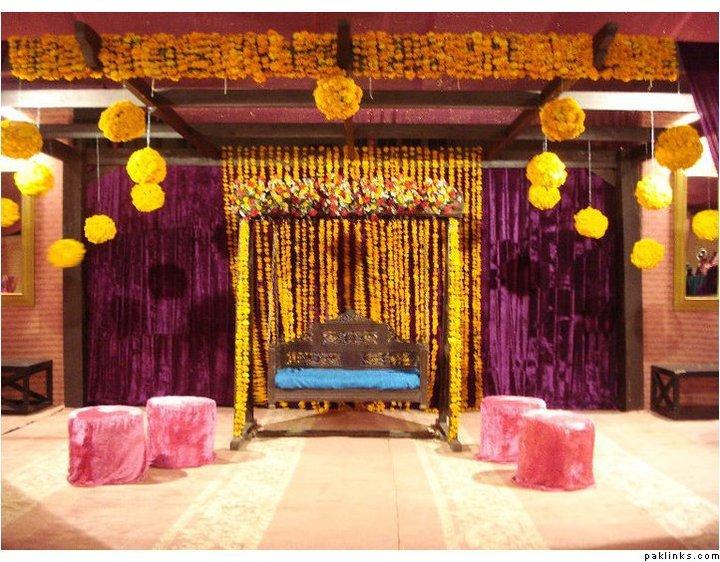 "Mehndi Stage Decoration : ""simplicity is the keynote of all true elegance mehndi"