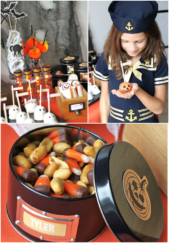 halloween diy kidu0027s dessert table via