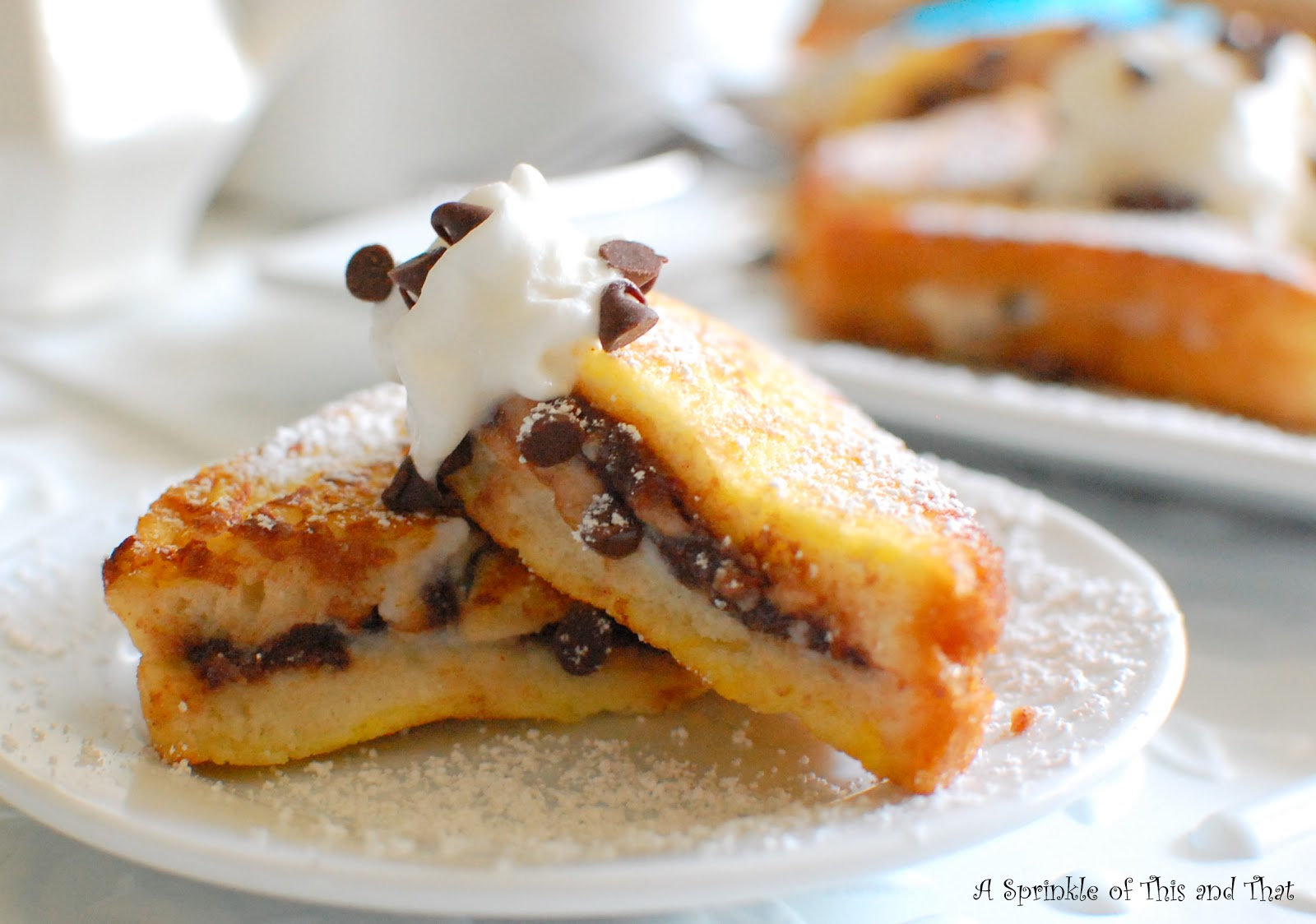 Sprinkle of This and That: Cannoli Stuffed French Toast