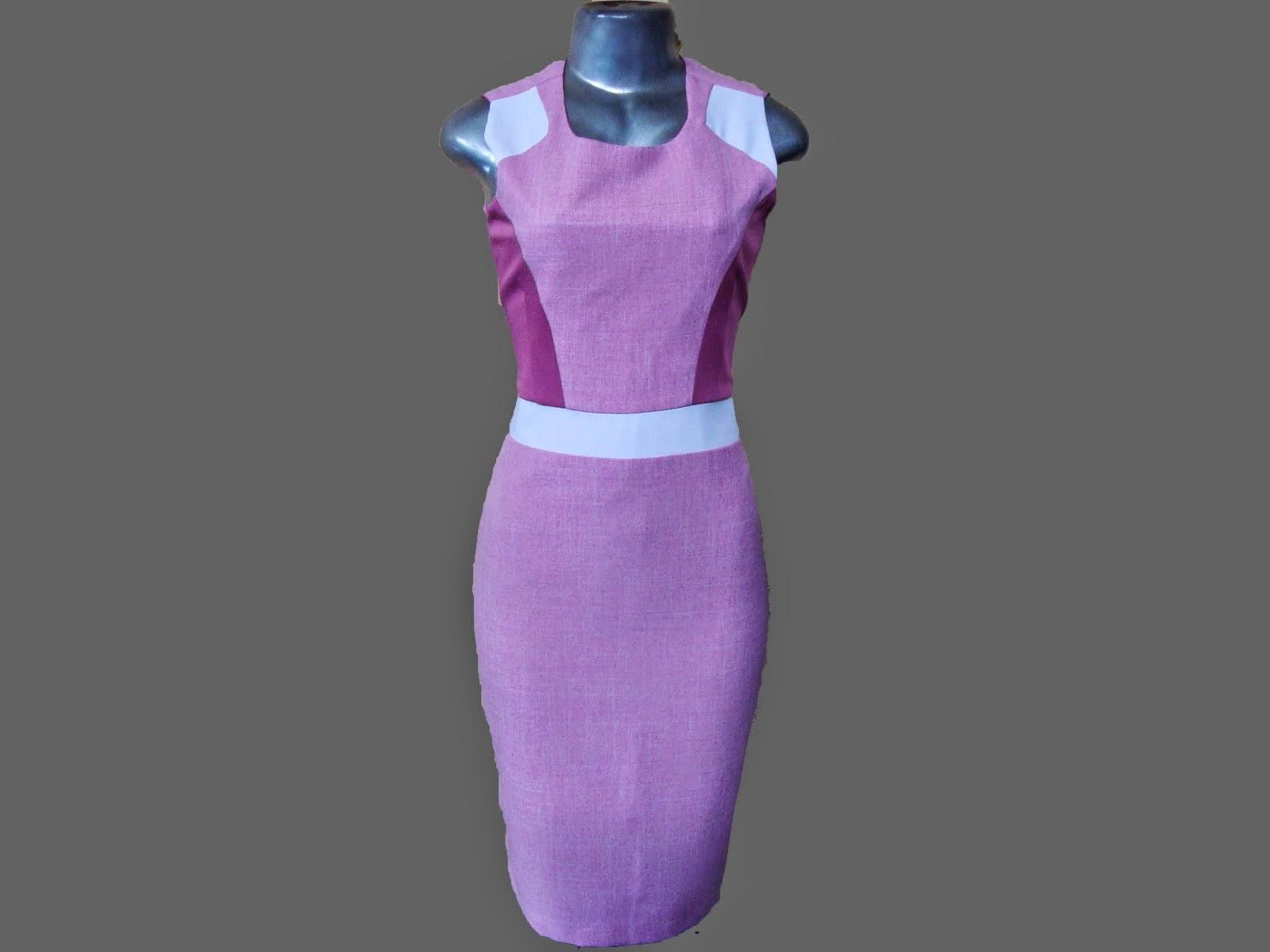 vestido tubinho de alfaiataria