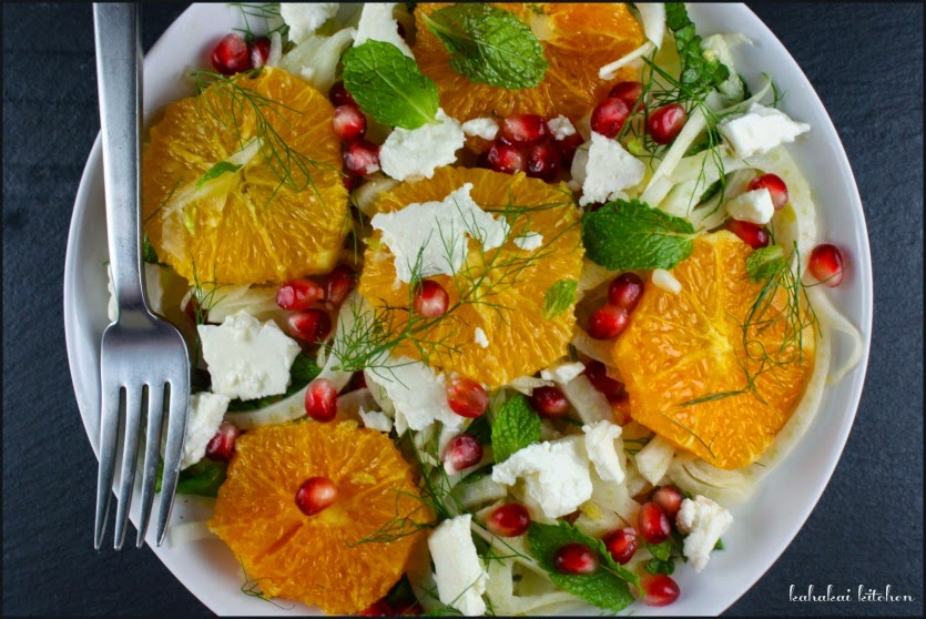 Orange & Fennel Salad with Pomegranate & Feta (Served with a Simple ...
