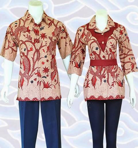 Kemeja Batik Wanita Pria Modern Terbaru