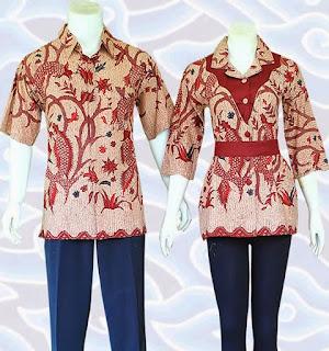 model baju batik pekalongan modern terbaru