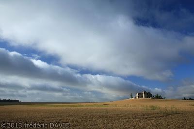paysage ciel champ chapelle Genevraye seine et marne