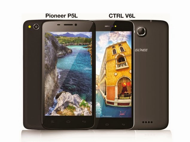 Gionee launches CTRL V6L and Pioneer P5L