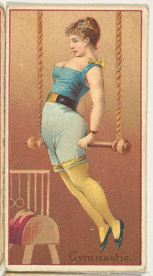 "Gymnast. Vintage tobacco card ""Occupations For Women"", via ellomennopee"