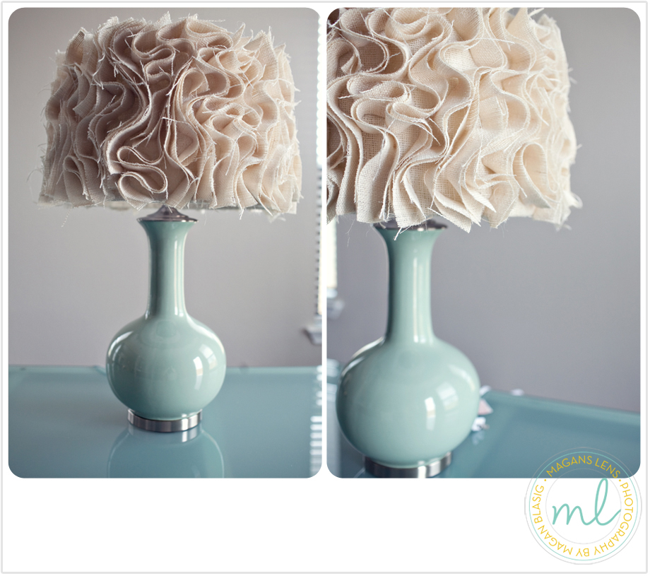 Juneberry lane tutorial tuesday diy ruffled fabric lamp shade - Diy lamp shade ...