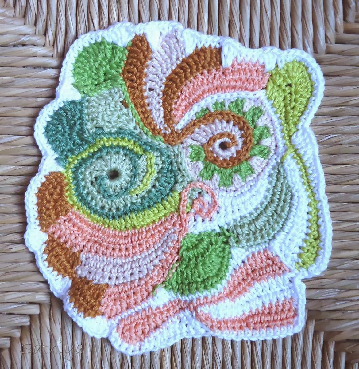 Wie Samt und Seide: Freies Häkeln - freeform crochet