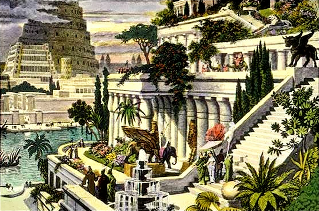 La cazadora de historias jardines colgantes de babilonia for Jardines colgantes de babilonia