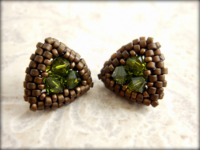Swarovski emerald Studs