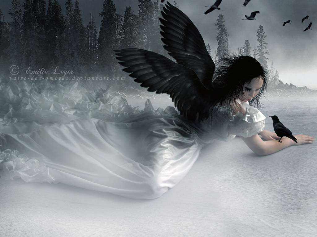 Black Gothic Angel Background Wallpapers Angel
