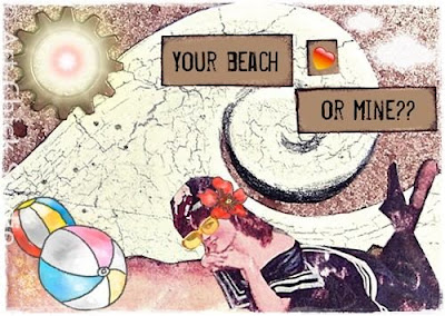 Your Beach or Mine Altered Art