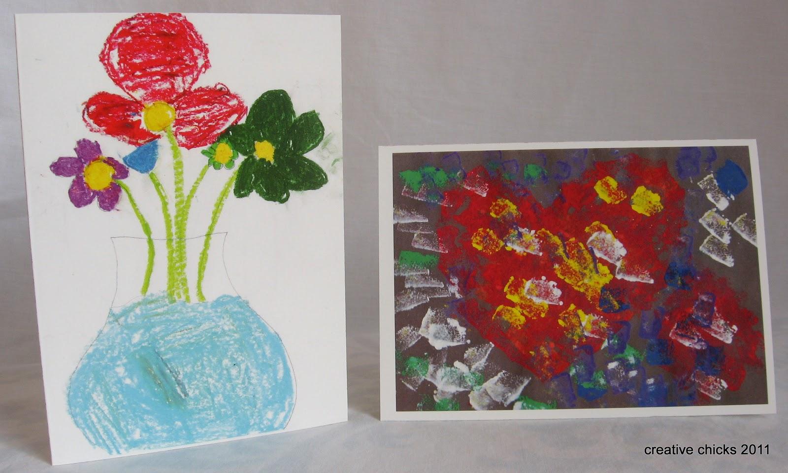 Creative chicks kids art to greeting cards i had them made on the 4 x 6 sized cards i think theyre actually bigger than that which will work perfectly for moms letters kristyandbryce Image collections