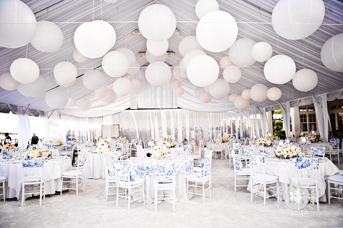 I think the white adds a nice calming feel to the reception