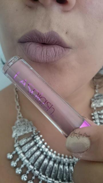 lipstick matt goulish LasplashCosmetics dupe Lime Crime rouge à lèvres maquillage