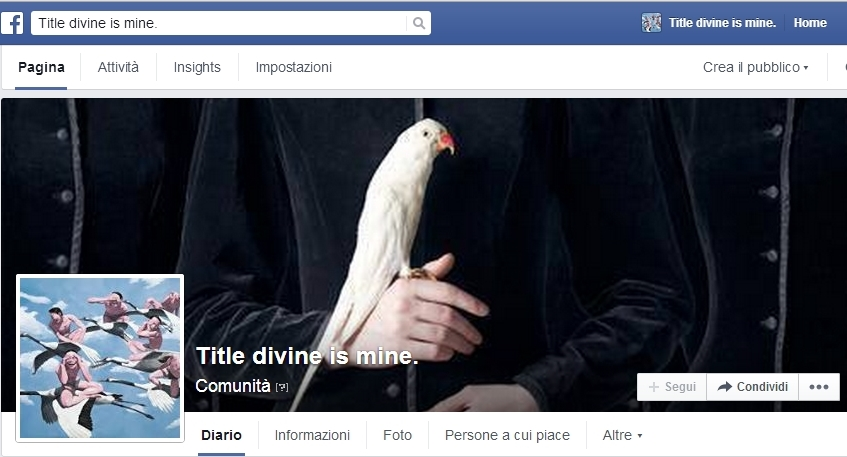 Title Divine Is Mine, come la poesia!