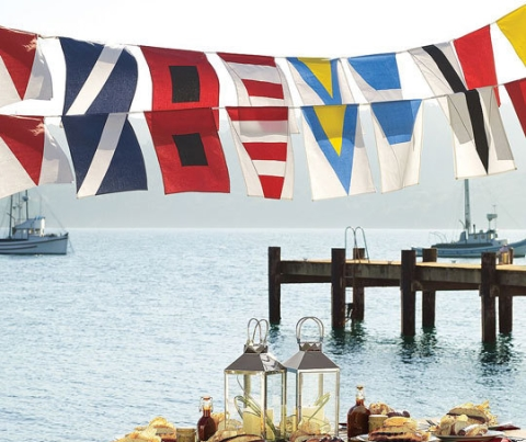 Nautical Red White And Blue Decorations With A Patriotic