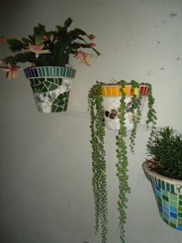 Mosaico e flores