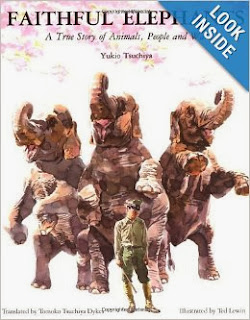 http://www.amazon.com/Faithful-Elephants-Story-Animals-People/dp/0395861373