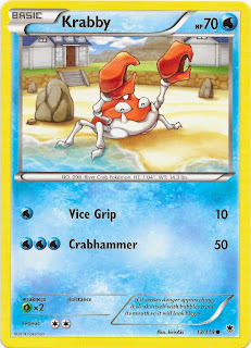Krabby Phantom Forces Pokemon Card