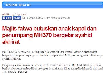 WW #86 | MH370 Syahid?