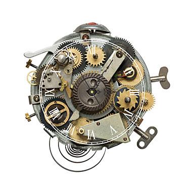 Reloj de Pared con Engranajes