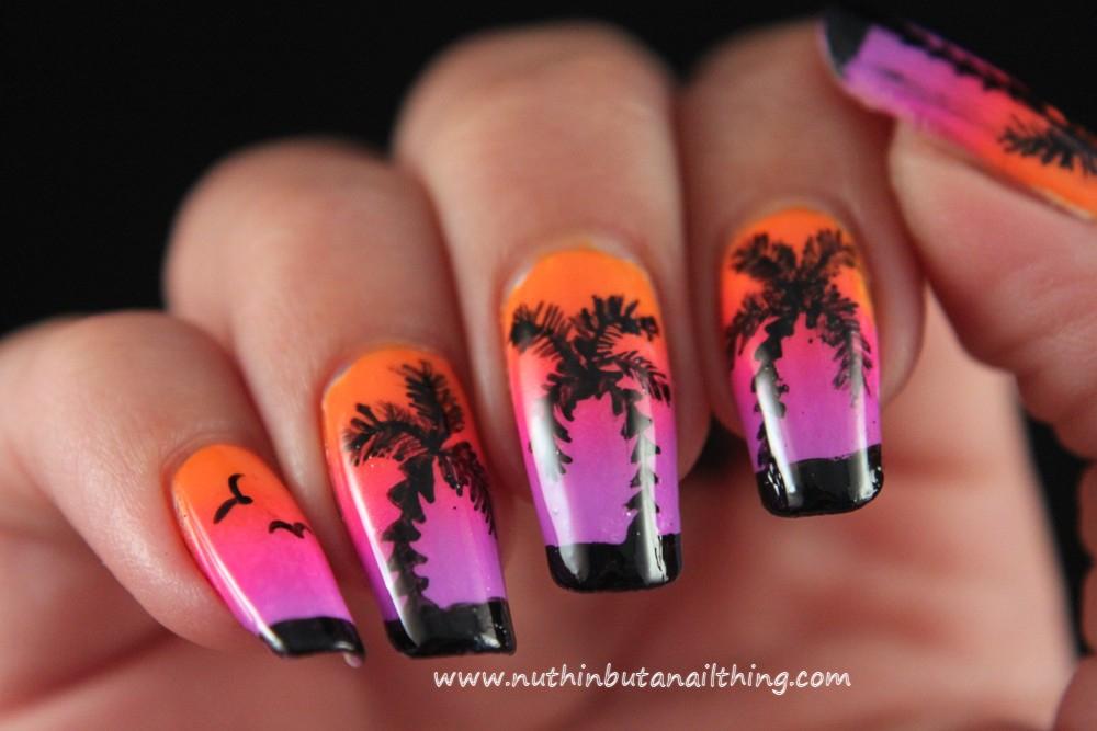Nuthin But A Nail Thing Palm Tree Nail Art