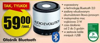 Głośnik Bluetooth z Biedronki ulotka