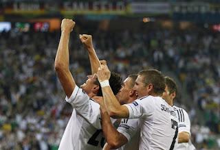 Celebracion del gol de Alemania
