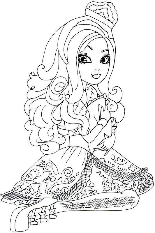 Free Printable Apple White Coloring Page title=