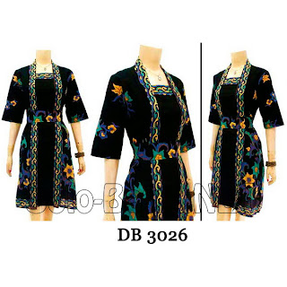 DB3026 Model Baju Dress Batik Modern Terbaru 2013