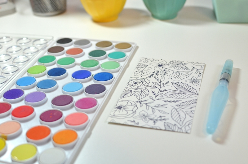 Jen Chapin | Blog: Watercoloring with Crate Paper Craft Market