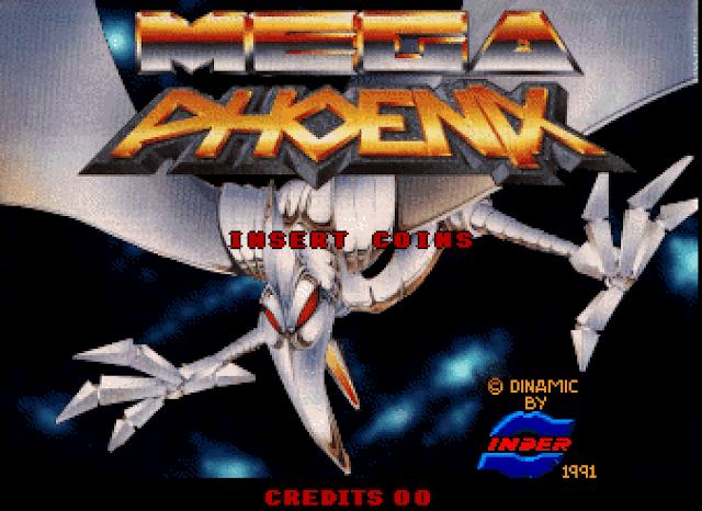 Disfruta en M.A.M.E. de la versión arcade de Mega Phoenix de Dinamic