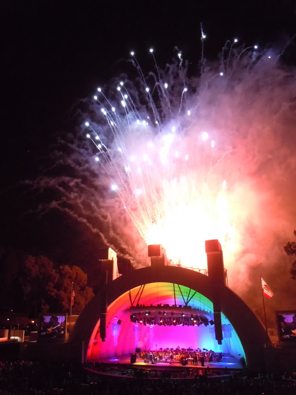 Hollywood Bowl opening fireworks